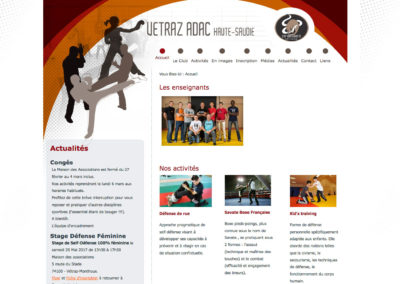 ADAC : création du site internet