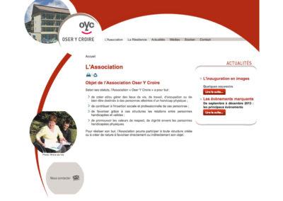 Oser Y Croire : création du site internet
