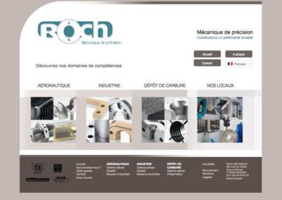 Roch Mécanique : création du site internet