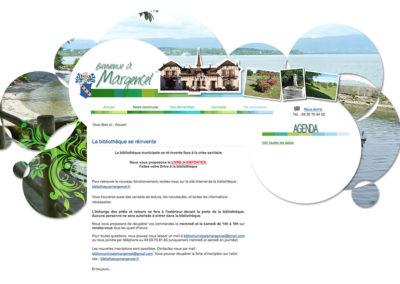 Mairie de Margencel : création du site