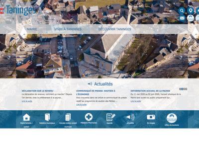 Taninges : création du site de la Mairie